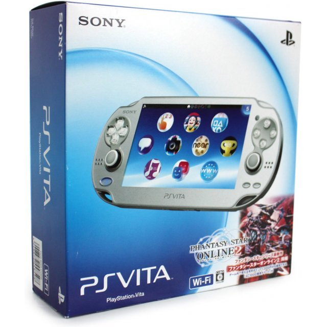 PSVita PlayStation Vita - Wi-Fi Model (Ice Silver) [Phantasy Star Online 2 Limited Bundle]