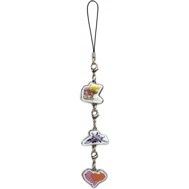 Macross 30th Anniversity First Attack Ichiban Kuji Kyun Kyara World - Metal Charm Strap (Sheryl Nome & Ranka Lee) [Prize H]