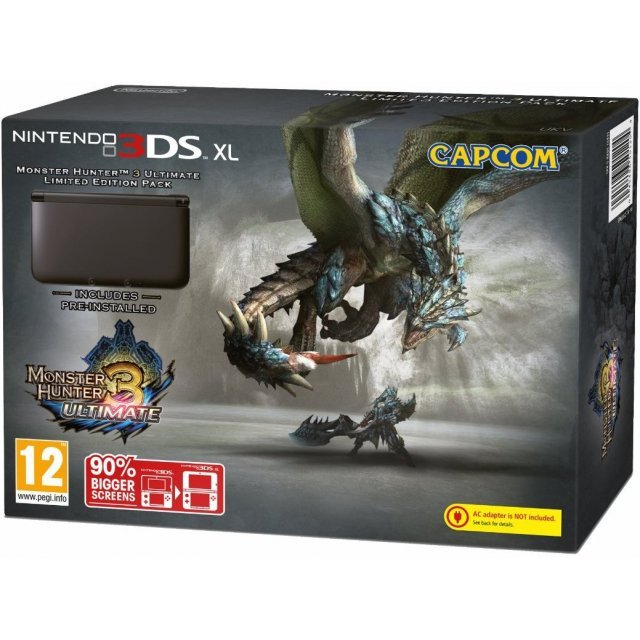 Nintendo 3DS XL (with Monster Hunter 3 Ultimate Pre-Installed Limited Edition Pack)