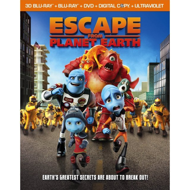 Escape From Planet Earth [Blu-ray 3D+Blu-ray+DVD+UV Digital Copy]