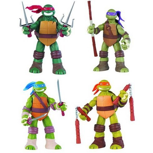 Teenage Mutant Ninja Turtles Basic Action Figure Complete Set