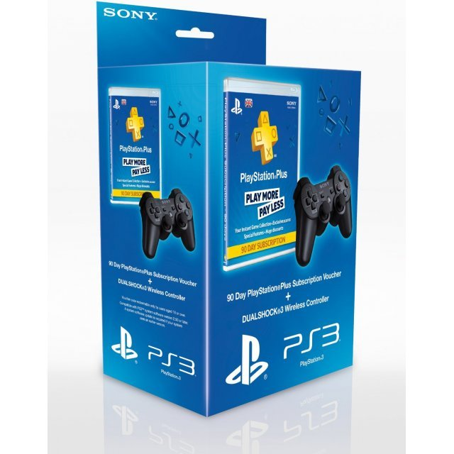 90 Day PlayStation Plus Subscription Voucher + DualShock 3 Wireless Controller