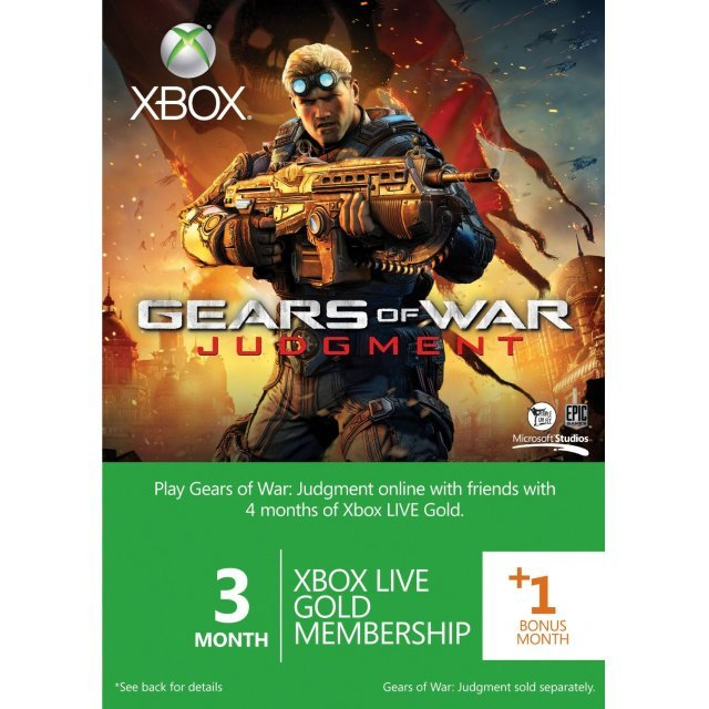 Xbox Live 3-Month +1 Gold Membership (Gears of War: Judgment)