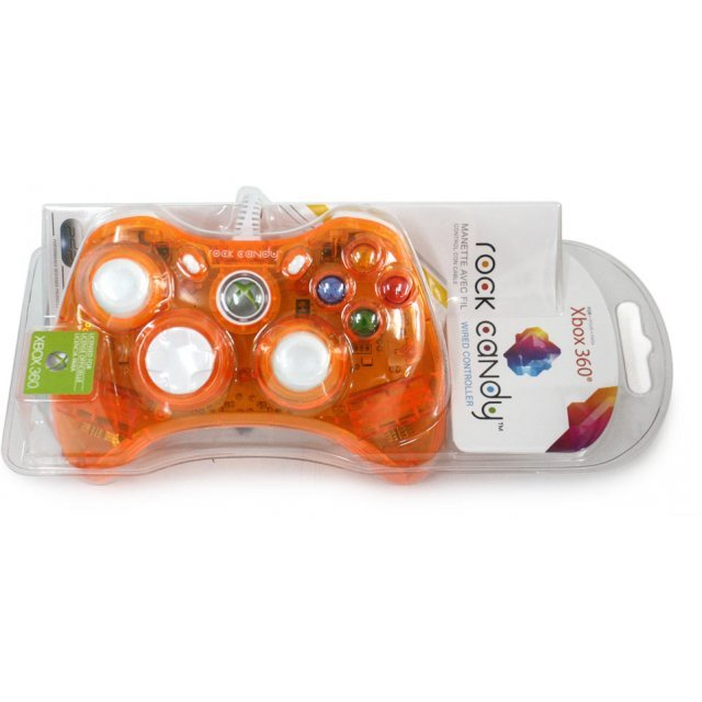 Rock Candy Xbox 360 Wired Controller (Orange) Xbox 360 Controller Orange