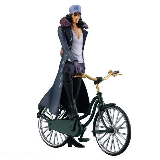 Super One Piece Styling Film Z Special Pre-Painted Candy Toy: Aokiji Kuzan & Bicycle Set