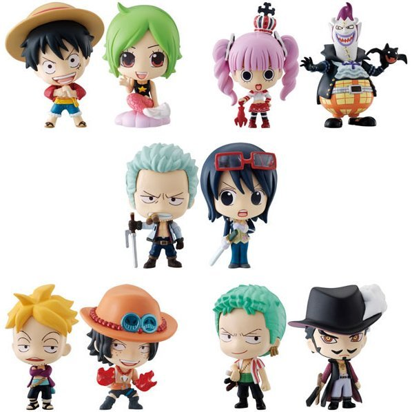 One Piece Deformeister Petit Non Scale Pre-Painted Trading Figure: ocean blue box (Re-run)