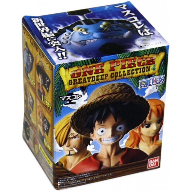 One Piece Mask Collection Vol. 2 Pre-Painted Trading Figure: Great Deep Collection 4 (Re-run) (6 Pieces Box Set)