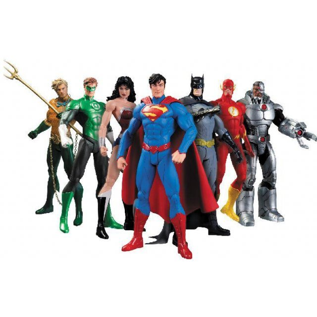 Justice League 7-pack Action Figure: We Can be Heroes The New 52 (Re-run)