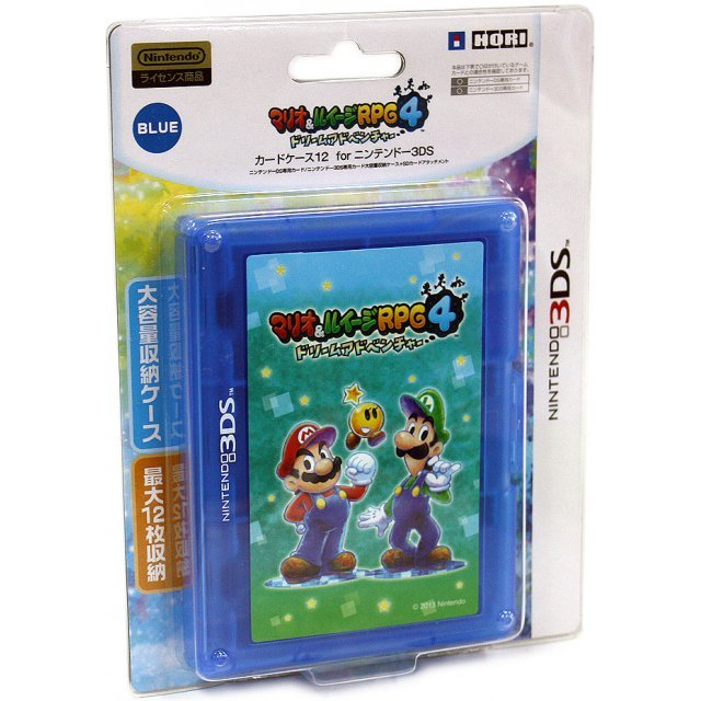 Mario & Luigi RPG 4: Dream Adventure Card Case 12 (Blue)