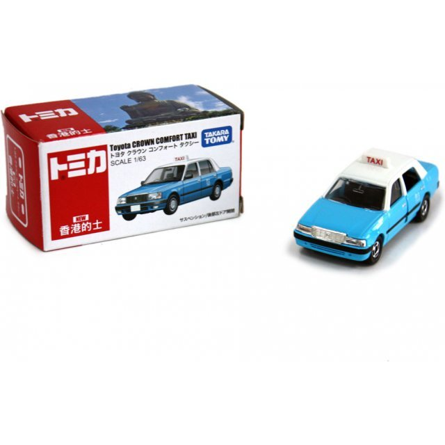 Tomica 1/63 Hong Kong Blue Taxi - Toyota CROWN COMFORT TAXI