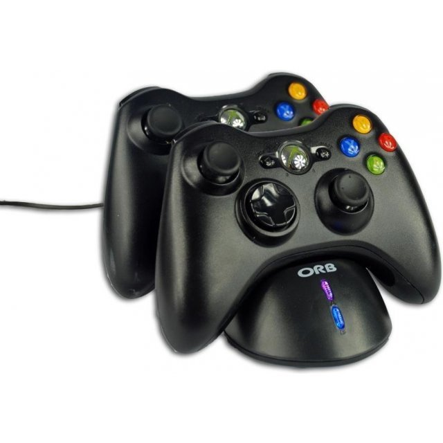 Controller Charge Dock and Battery Pack (Black)