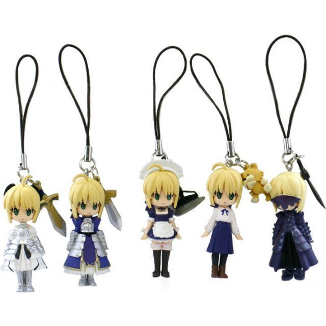 CapsuleQ Fraulein Fate/stay night Capsule: Omikuji Saber (Set of 5 pieces)