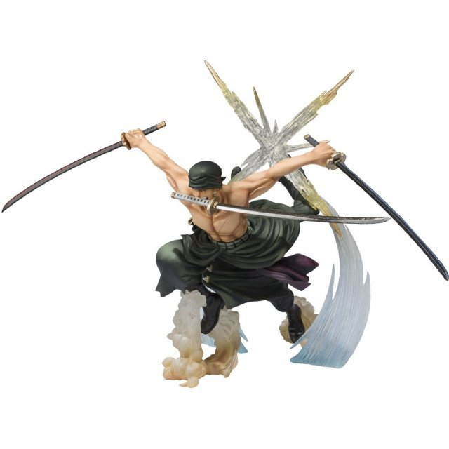 One Piece Figuarts Zero Non Scale Pre-Painted PVC Figure: Roronoa Zoro Battle Ver. Rengoku Onigiri (Re-run)