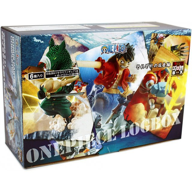 One Piece Logbox Respective Growth Pre-Painted PVC Trading Figure (6 pcs. Box Set)