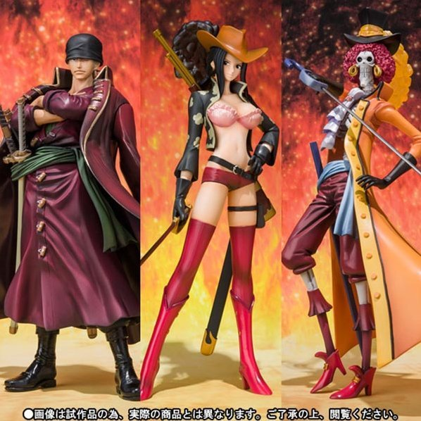 Figure Art Zero Rorona. Zoro, Brook and Nico. Robin - One Piece Film Z - Kessenfuku Syutsujin Ver.  (Tamashii Web exclusive)