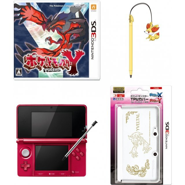 Pokemon Y with Nintendo 3DS + Accessories [Play-Asia.com Starter Bundle Set]
