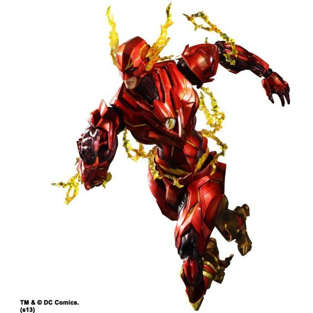 DC Comics Variant Play Arts Kai The Flash Non Scale Pre-Painted Figure: The Flash