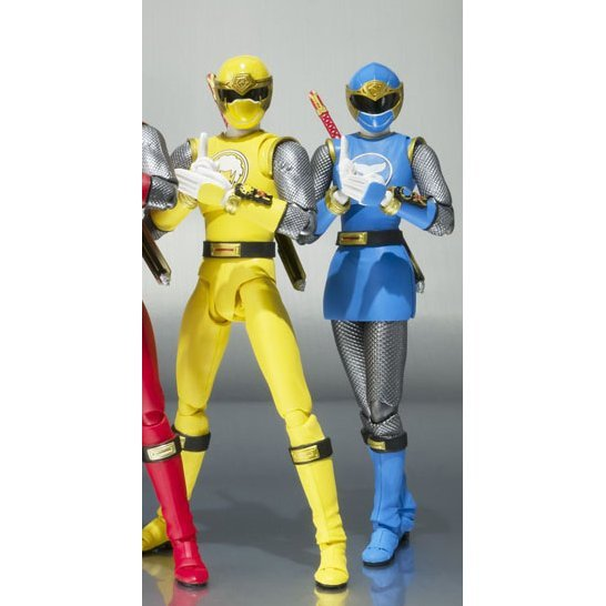 S.H.Figuarts Ninpuu Sentai Hurricaneger Non Scale Pre-Painted PVC Figure: Hurricane Blue & Hurricane Yellow