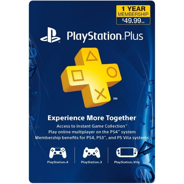 PlayStation Plus 12 Month Membership US