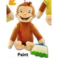 Curious George Plush: George with Paint