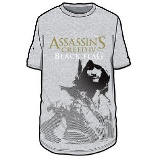 Ubisoft Assassin's Creed IV: Black Flag - Grey Printed Cotton T-Shirt (XXL)