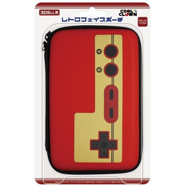 Retro Face Pouch for 3DS LL (Famicom Red)