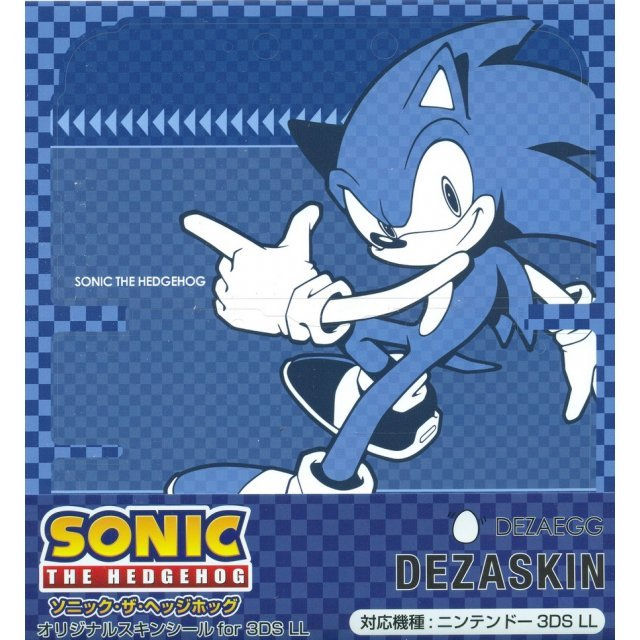 Sonic the Hedgehog Design Skin for 3DS LL [Design 1]
