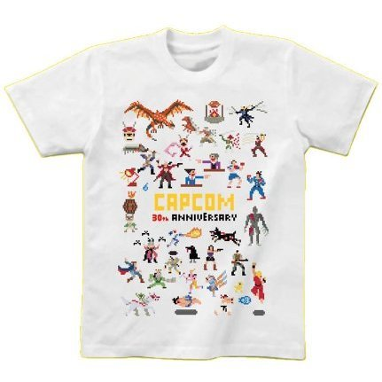 Capcom 30th Anniversary T-Shirt 90's (L) (White)