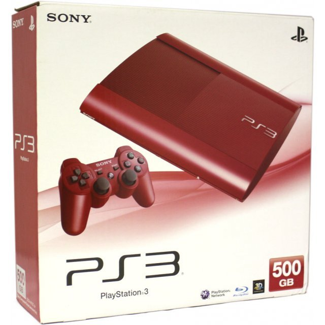 PlayStation3 New Slim Console (500GB Garnet Red Model) - 220V