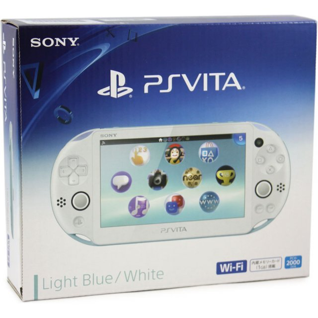 PS Vita PlayStation Vita New Slim Model - PCH-2000 (Light Blue White)