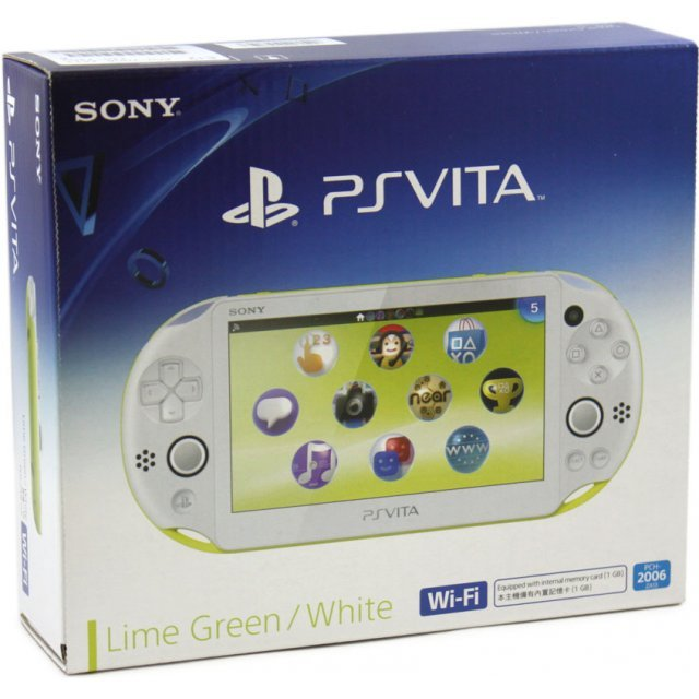 PS Vita PlayStation Vita New Slim Model - PCH-2006 (Lime Green White)