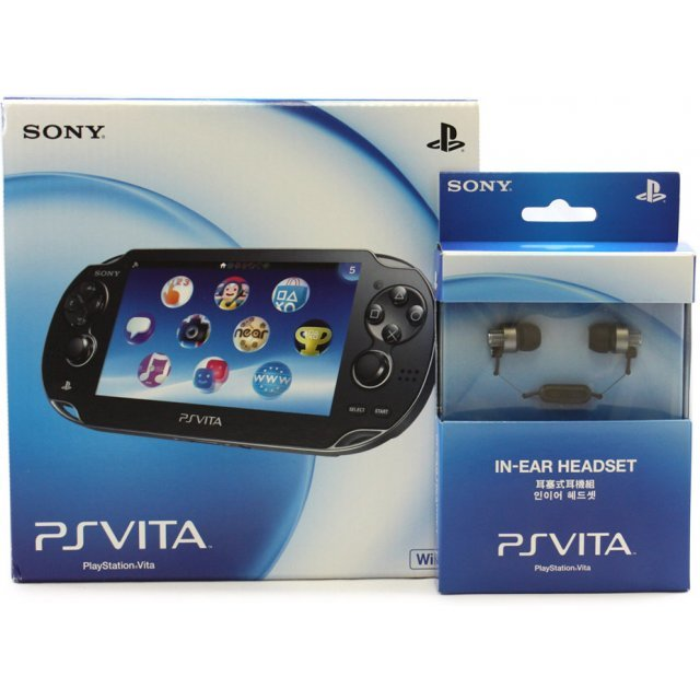 PS Vita PlayStation Vita (Wi-Fi Model) + Earphones (Black) [Play-Asia.com Bundle Set]