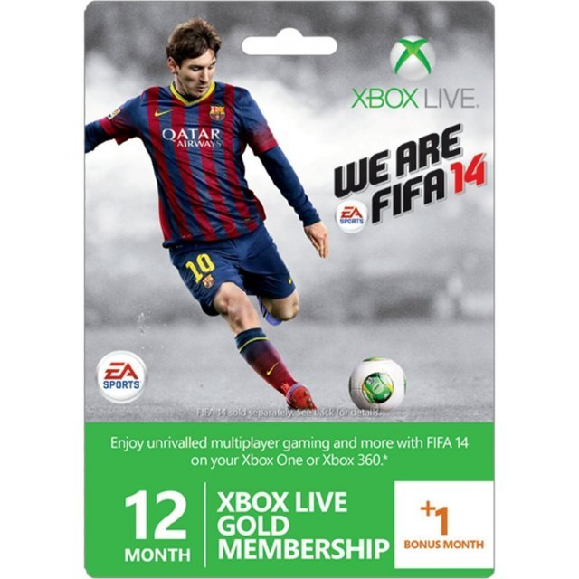 Xbox Live 12-Month +1 Gold Membership Card (FIFA 14 Edition)