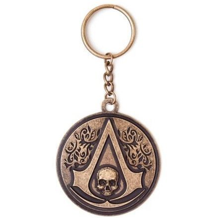 Ubisoft Assassin's Creed IV: Black Flag - Metal Round Sculpted Keychain