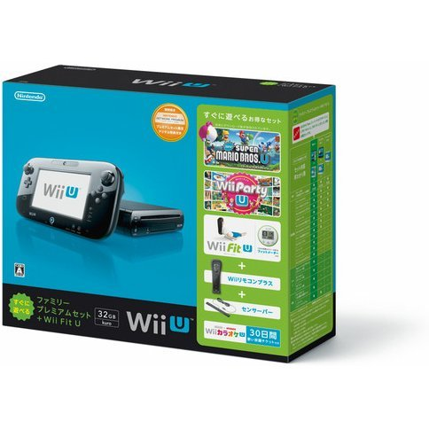 Wii U Suguni Asoberu Family Premium Set + Wii Fit U (32GB Black)