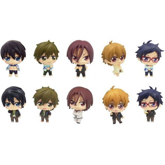Color Collection Free! Non Scale Pre-Painted PVC Trading Figure (Set of 10 pieces)