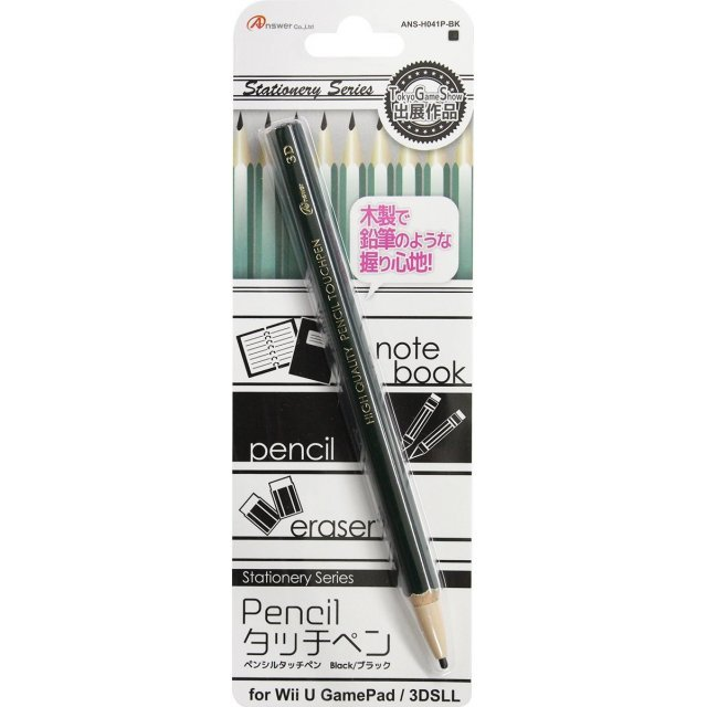 Pencil Touch Pen for 3DS/Wii U Gamepad (Black)