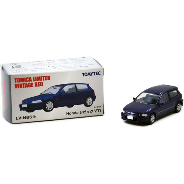 Tomica Limited Vintage NEO 1/64 Scale: TLV-N65b Honda CivicVTi Navy