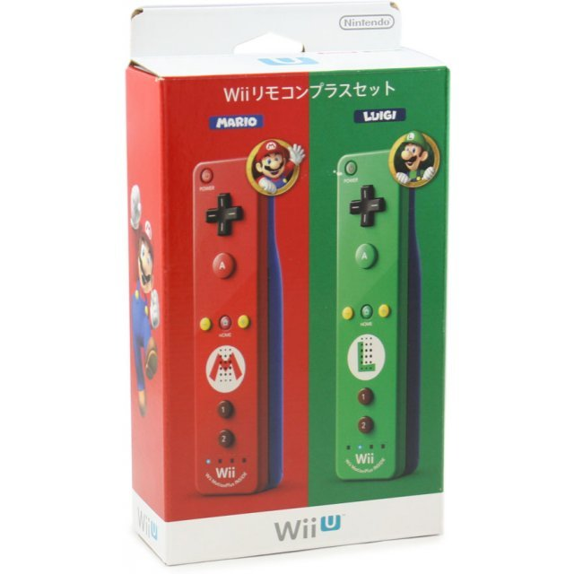 Wii Remote Control Plus Set (Mario+Luigi)