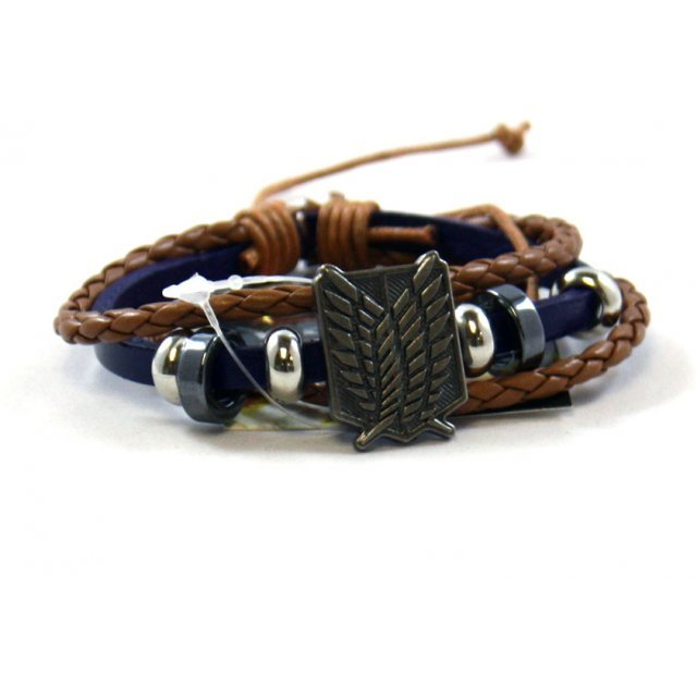 Attack on Titan PU Leather Bracelet: Survey Corps Blue