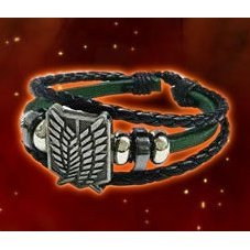 Attack on Titan PU Leather Bracelet: Survey Corps Green