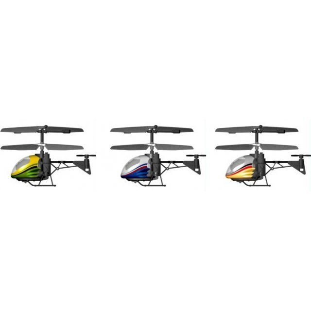 Silverlit Nano Heli 3-Channel I/ R Miniature Remote Control Gyro Helicopter with Led Light (Assorted)