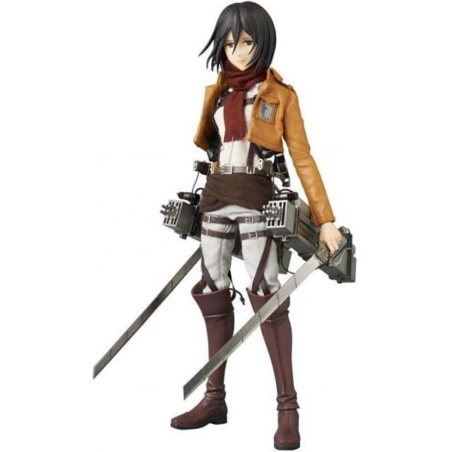Real Action Heroes 648 Attack on Titan 1/6 Scale Pre-Painted Figure: Mikasa Ackerman