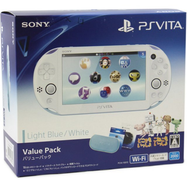 PlayStation Vita New Slim Model Value Pack (Light Blue White)