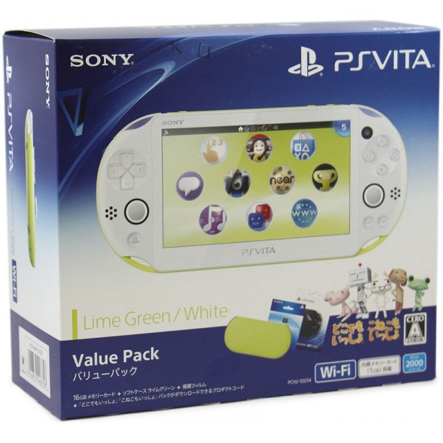 PlayStation Vita New Slim Model Value Pack (Lime Green White)