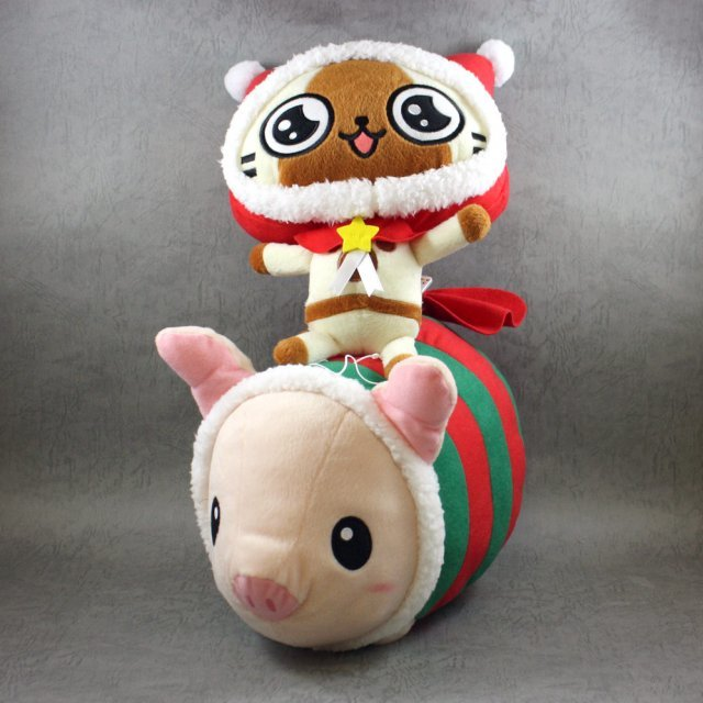 Monster Hunter Super DX XMAS Plush - XMAS Airou & Piggie