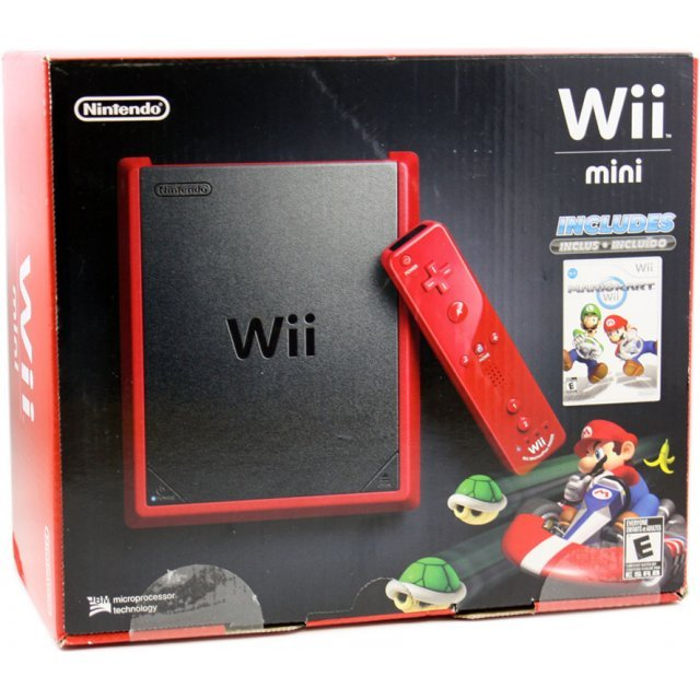 Nintendo Wii Mini with Mario Kart Bundle (Red)