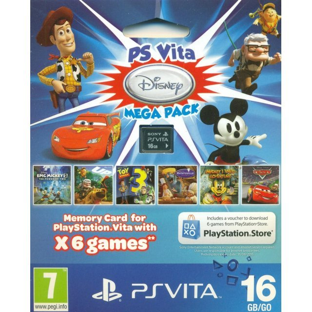 PS Vita Mega Pack Disney (Includes 6 Games and 16GB Memory Card)