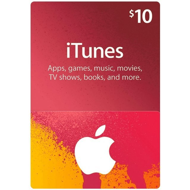 iTunes Card (US$ 10 / for US accounts only)