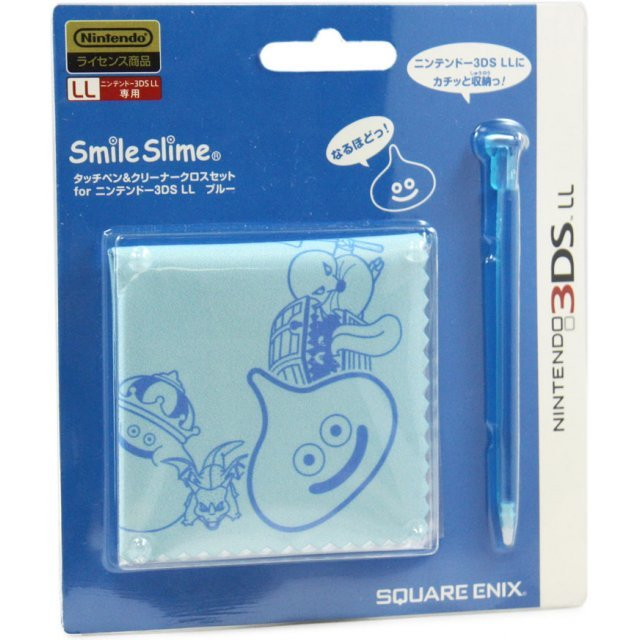 Smile Slime Touch Pen & Cleaning Cloth Set (Blue)